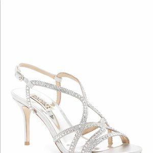 Badgley mischka silver heels never used